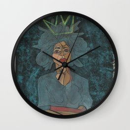 Sometimes a Woman is King Wall Clock