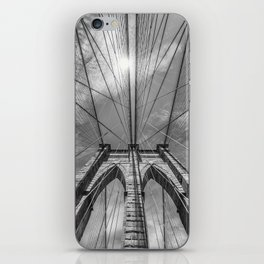 NEW YORK CITY Brooklyn Bridge in Detail | monochrome iPhone Skin