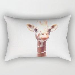 Portrait of a Giraffe | Toy Photography Rectangular Pillow