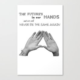 Things We Lost In The Fire - Bastille Triangle Hands Canvas Print