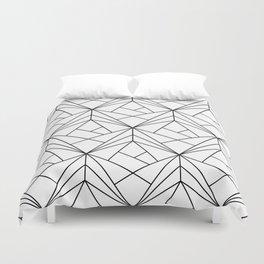 Black and White Geometric Pattern Duvet Cover