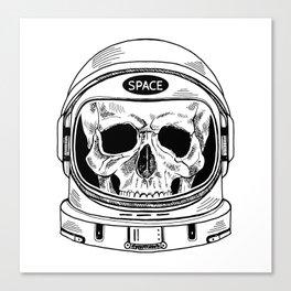 space  skull Canvas Print