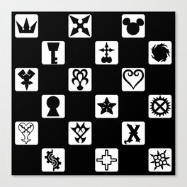 Kingdom Hearts Grid Canvas Print
