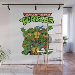 Retro Ninja Turtles Wall Mural