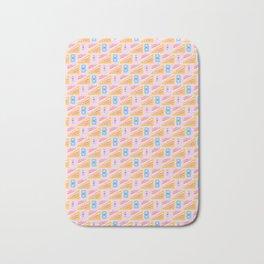 Memphis Style Geometric Squares Seamless Vector Pattern Bath Mat