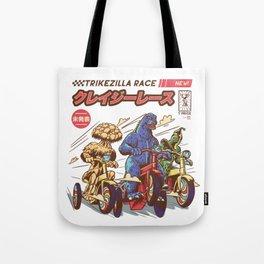 Trikezilla race Tote Bag