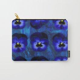 Deep Blue Velvet Carry-All Pouch