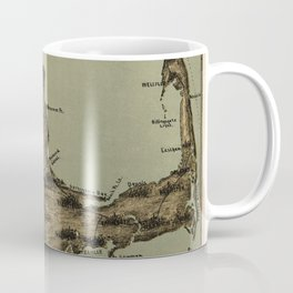 Map of Nantucket Boston 1885 Coffee Mug