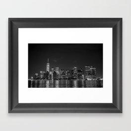 Downtown Manhattan Staten Island Ferry Framed Art Print