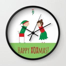 Happy XOXmas Wall Clock