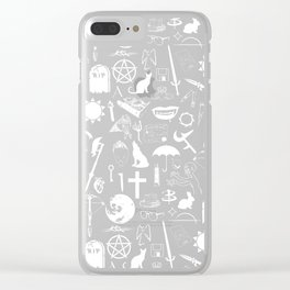 Buffy Symbology, White Clear iPhone Case