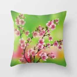 Cherry Blossom - Variation 3 Throw Pillow