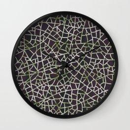 Crackle Magenta Suede Wall Clock