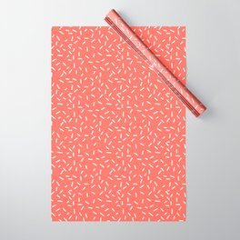 Living Coral Memphis Wrapping Paper