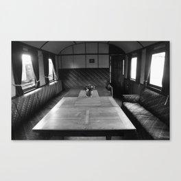 Old train compartment 4 Canvas Print