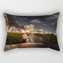 English Bay Long Exposure Rectangular Pillow