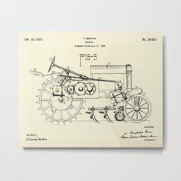 Tractor-1937 Metal Print