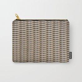 Closeup rattan wickerwork texture Carry-All Pouch