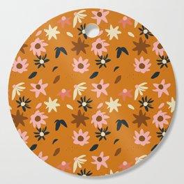 Fall flowers pattern Cutting Board