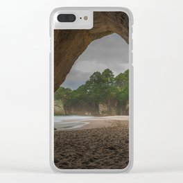 Dawn at Cathedral Cove 2 Clear iPhone Case