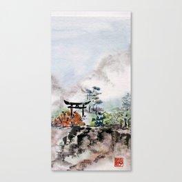 Torii Gate to Misty Mountain Canvas Print