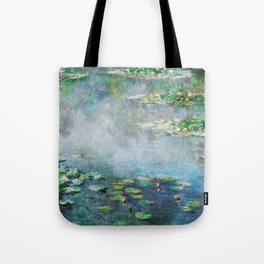 1906 Waterlily on Canvas.  Claude Monet . Vintage fine art. Tote Bag