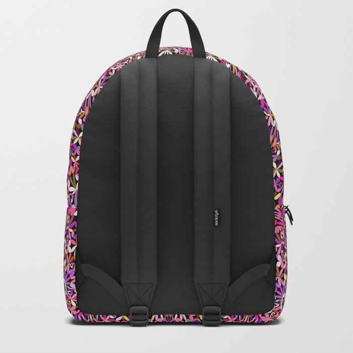 Colorful Girly Lace Garden Mandala Backpack