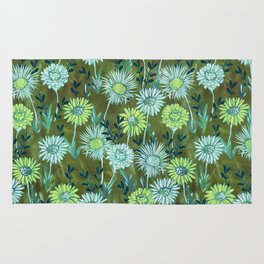 Gillian Floral Green Rug