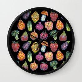 Vitamins (black) Wall Clock