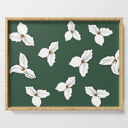 Trilliums Serving Tray