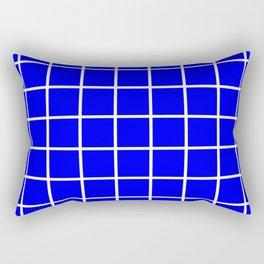 blue cube Rectangular Pillow