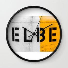 Maritime Hamburg - Elbe Wall Clock