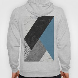 Black and White Marbles and Pantone Niagara Color Hoody