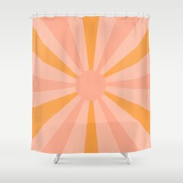 pink and orange sunshine Shower Curtain