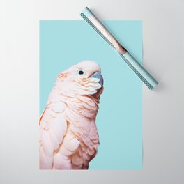 Parrot Photography | Pink Bird |  Tropical | Exotic | Turquoise Art | Blush Pink Wrapping Paper