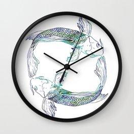 Pisces Swim Wall Clock