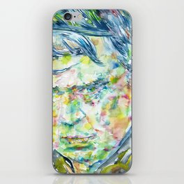 ANTHONY BURGESS - watercolor portrait iPhone Skin