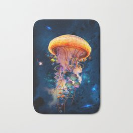 Electric Jellyish World Bath Mat