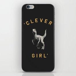 Clever Girl (Dark) iPhone Skin