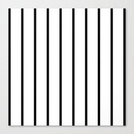Vertical Lines (Black & White Pattern) Canvas Print