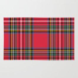 Red & Green Tartan Pattern Rug