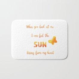 Sunny anniversary love quote Bath Mat