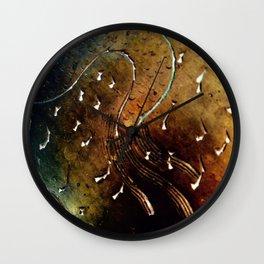 Brass pattern Wall Clock