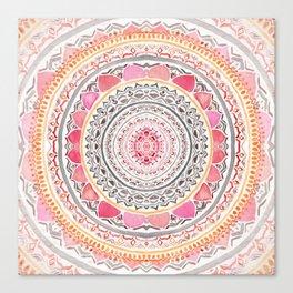 Pastel Bohemian Mandala Canvas Print