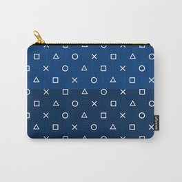 Playstation Controller Pattern - Navy Blue Carry-All Pouch