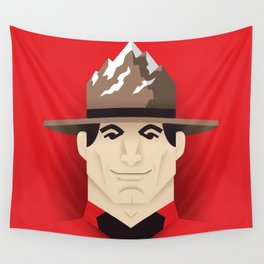Mountie Wall Tapestry