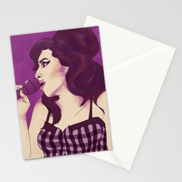 AMY THROUGH THE SMOKE Stationery Cards