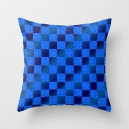 Funky Check (Waterworld) Throw Pillow