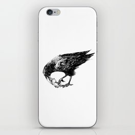 CROW EATING A CANDY BAR iPhone Skin