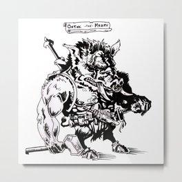 Ontok the Meaty Metal Print